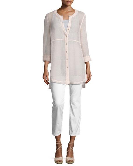 Scoop-Neck Stretch Silk Jersey Tunic