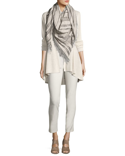 Long Crepe-Knit Shaped Cardigan  Petite and Matching Items