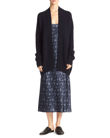 Vince Cashmere Open-Front Boxy Cardigan