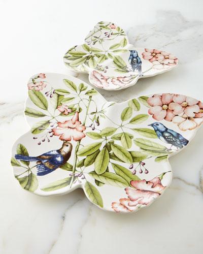 Belle Botanica Butterfly Platter & Plate