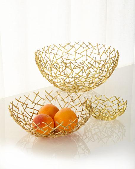 Michael Aram Decorative Thatch Bowl, Medium