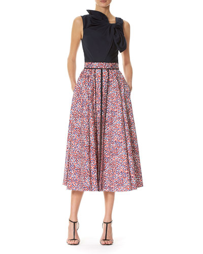 Polka-Dot A-line Midi Skirt, Multicolor and Matching Items