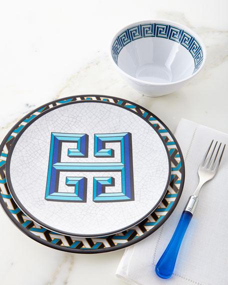 Blue Mykonos Melamine Salad Plate