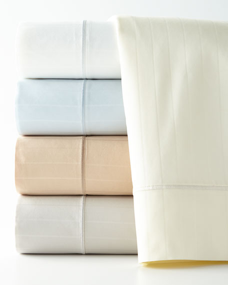 Two Standard Marcus Collection 400TC Striped Pillowcases