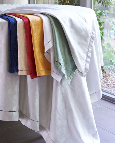 Plume Jacquard Tablecloths, Runners, Placemats, & Napkins