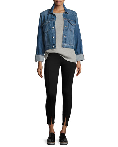 Le Jacket Reverse Overlock Cuff Denim Jacket, Blue and Matching Items