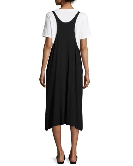 Eileen Fisher Lightweight Viscose Jersey Jumper Dress, Black
