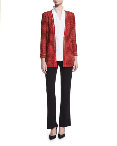 Long-Sleeve Stretch-Cotton Shirt  and Matching Items