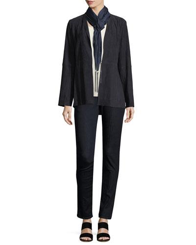 Jacket, Tunic, Jeans & Scarf, Plus Size
