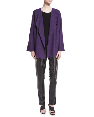 Bi-Stretch Faux-Leather Pants, Black, Petite and Matching Items