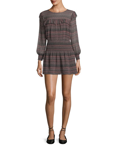 Adelais Geo Stripe Long-Sleeve Blouse and Matching Items
