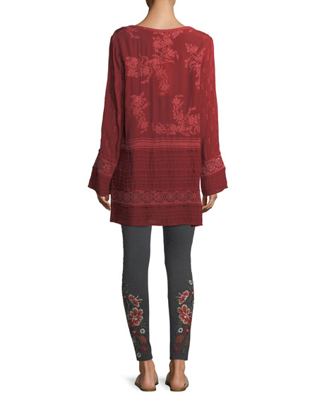 Leafly Tiered Popover Tunic