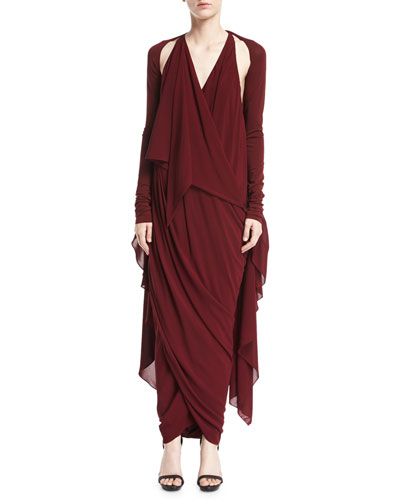 Convertible Draped Jersey Maxi Dress and Matching Items