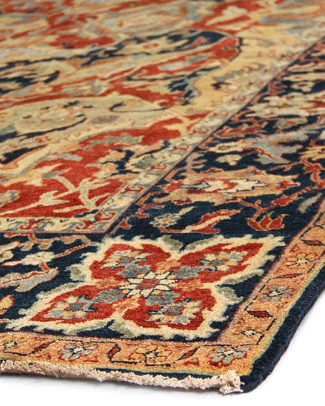 Bergeron Antiqued Weave Serapi Rug, 6' x 9'