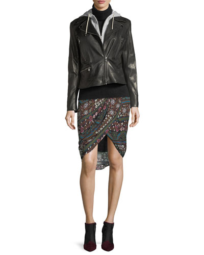Nash Twist-Front Printed Pencil Skirt and Matching Items