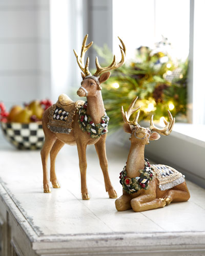 Resting Tawny Stag Figurine and Matching Items