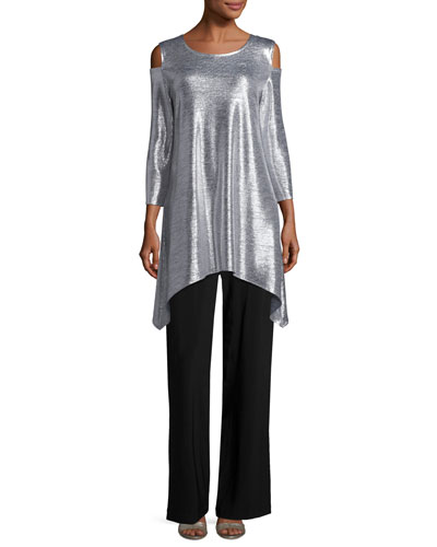 Reflection-Knit Cold-Shoulder Tunic  and Matching Items