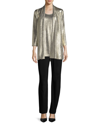 Reflection Knit Metallic Easy Cardigan  and Matching Items