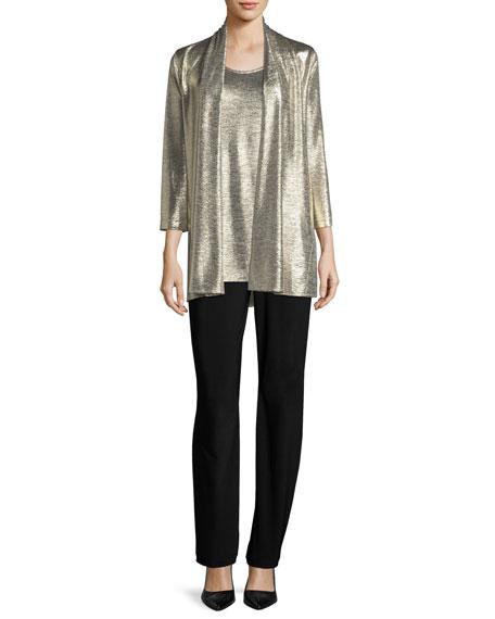 Reflection Knit Metallic Easy Cardigan, Petite