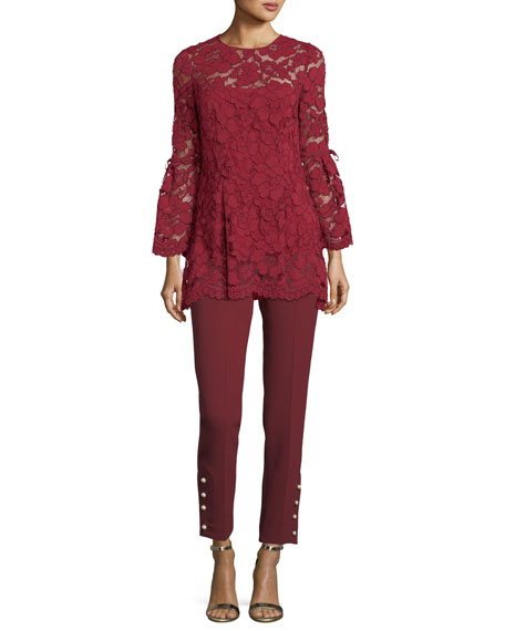Full-Sleeve Guipure Lace Top