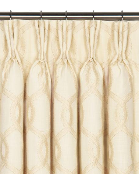 "Eastern Accents Gresham Pinch Pleat Curtain Panel, 108""L"