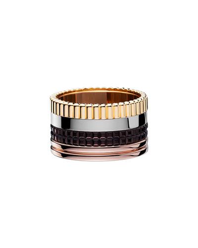 Classic Quatre 18k Gold Large Band Ring, Size 5.5