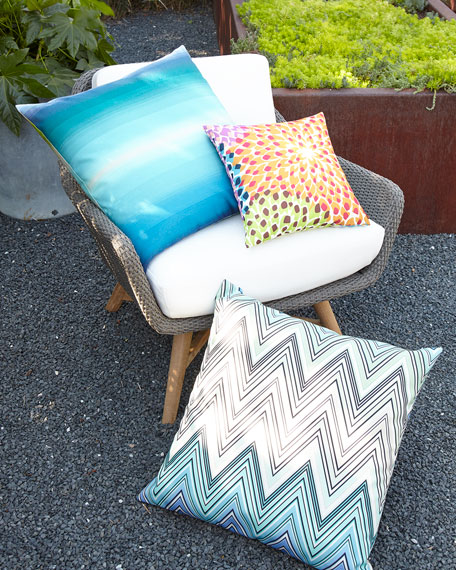 "Kew Outdoor Pillow, 24""Sq."