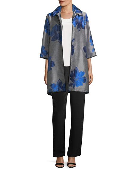 Floral Pop Topper Jacket, Plus Size