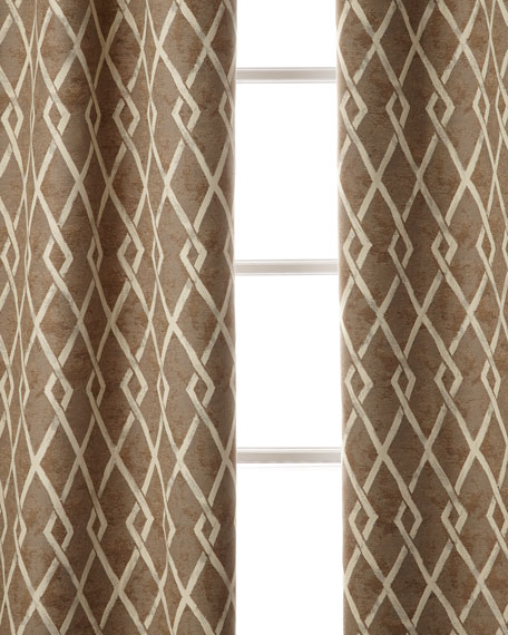 "Argyle Curtain, 96""L"