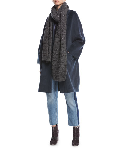 Textured Knit Alpaca Car Coat and Matching Items