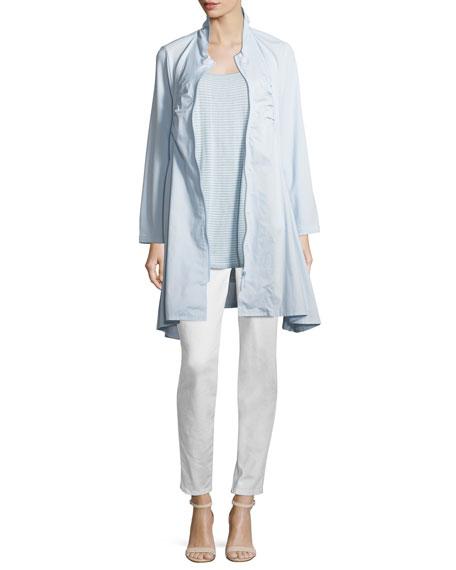 Joan Vass Stretch Denim Slim Jeans