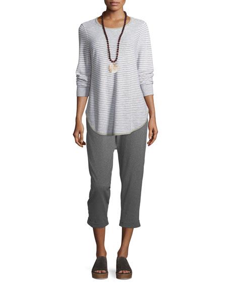 Eileen Fisher Plus Size Linen-Blend Slub Top
