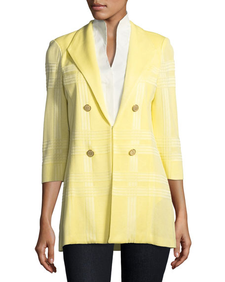 3/4-Sleeve Long Statement Jacket, Petite
