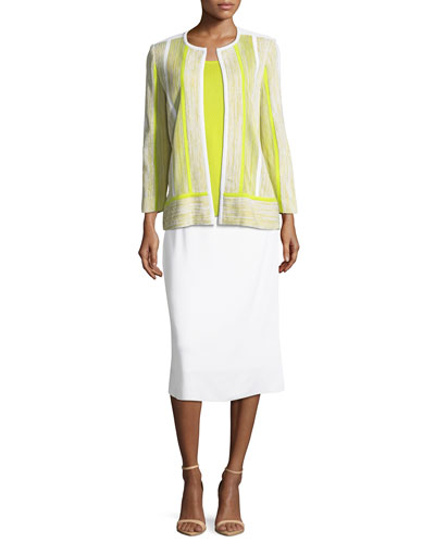 Lined Straight Pull-On Skirt, Petite and Matching Items