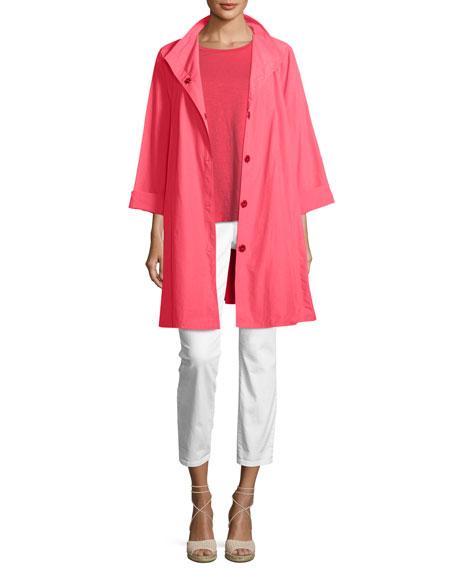 Weather-Resistant Snap-Front Coat, Plus Size