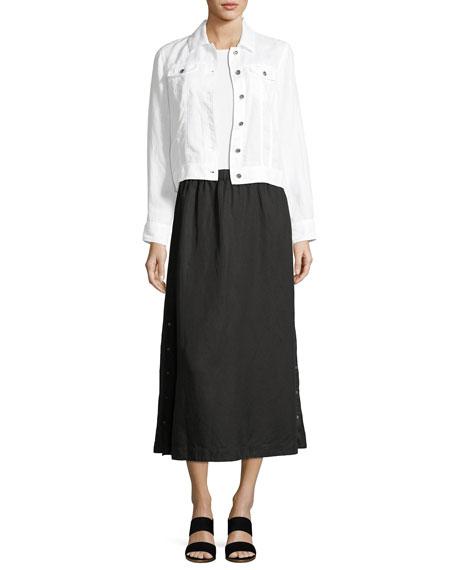 Organic Linen Crop Jacket