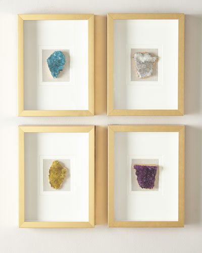 Natural Crystal in Golden Frame  Stormy White and Matching Items