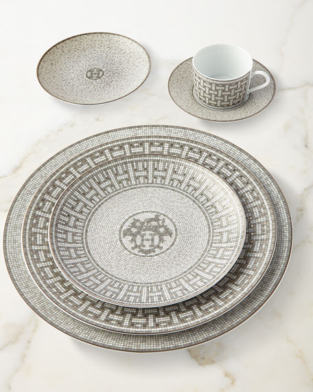 Hermès Mosaique au 24 Platinum Cup & Saucer