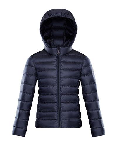 Iraida Hooded Lightweight Down Puffer Jacket  Navy  Size 4-6  and Matching Items