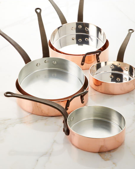 Duparquet Copper Cookware Solid Copper Saute Pan with Tin Lining