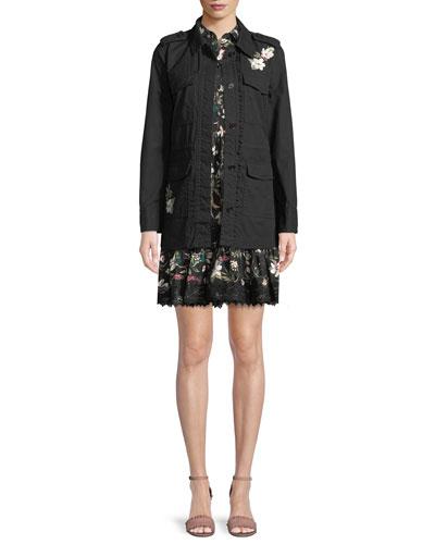 kate spade new york botanical short-sleeve poplin mini dress and Matching Items