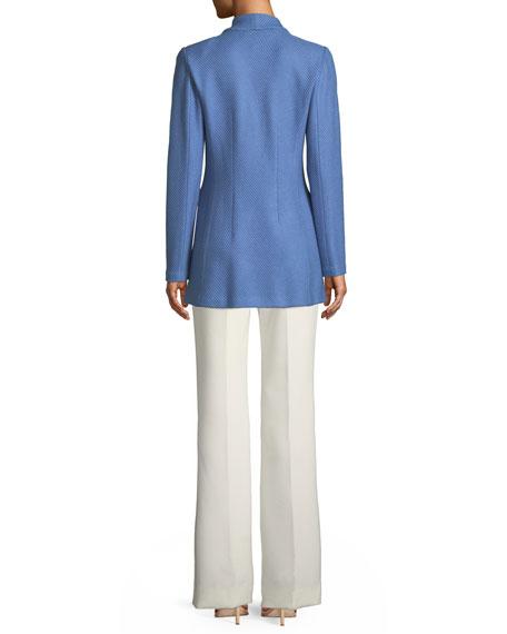 Sarga Knit Twill Notch-Collar Jacket