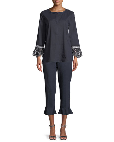Arden Lace-Trim Blouse and Matching Items