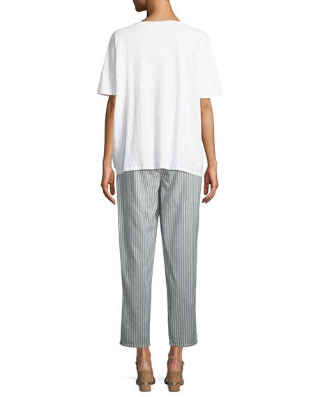 Eileen Fisher Plus Size Tie-Front Slub Tee