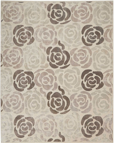 Fleurs Hand-Knotted Rug  8' x 10' and Matching Items