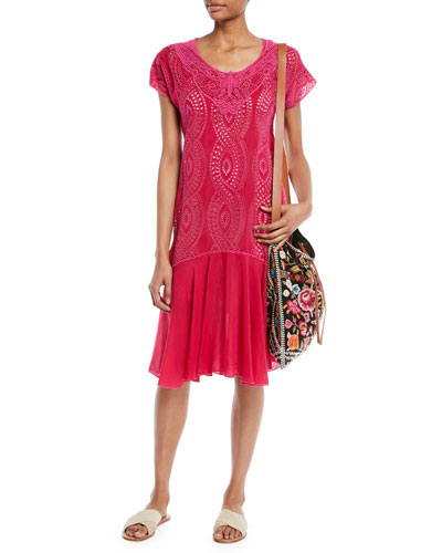 Halfrid Eyelet Dress with Chiffon Trim, Petite and Matching Items