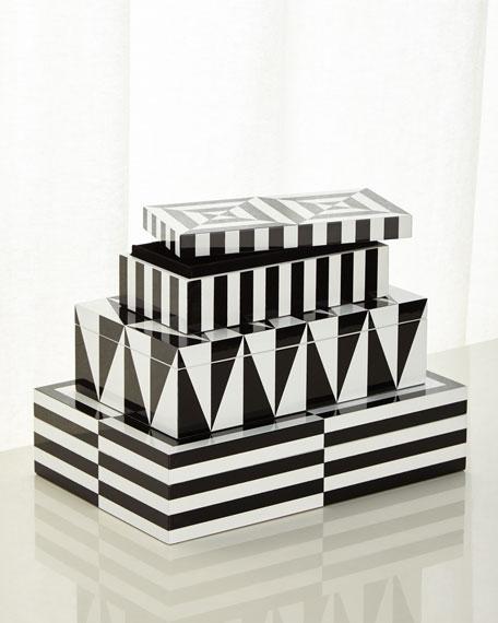Jonathan Adler Op Art Small Stacking Box