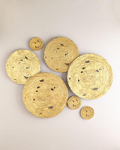 Large Gold Circle Wall Decor  and Matching Items