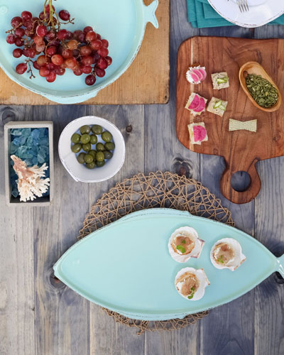 Melamine Lastra Fish Round Platter  and Matching Items