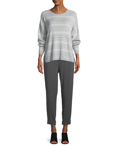 Long-Sleeve Striped Organic Cotton Sweater  and Matching Items